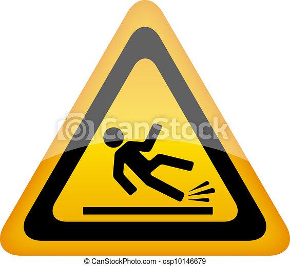 Wet floor warning sign - csp10146679