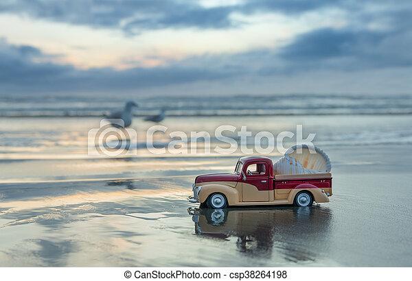 Wet Sand Truck - csp38264198