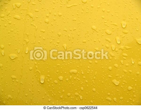 Wet Yellow Metal Abstract - csp0622544