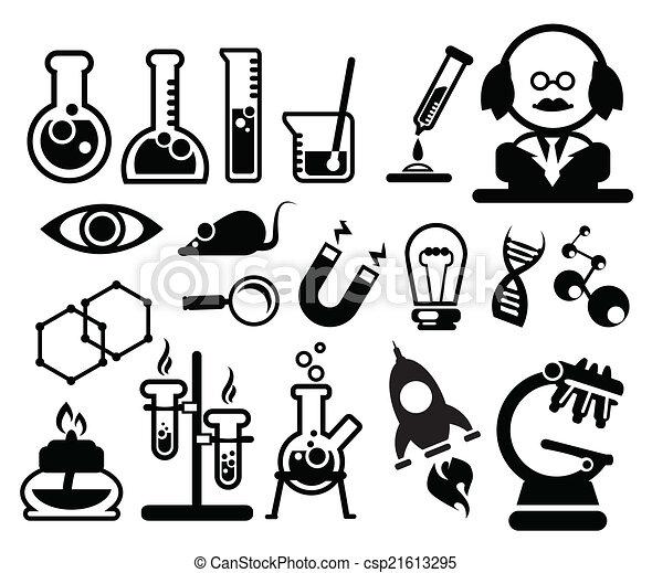 wetenschap, biologie, iconen - csp21613295
