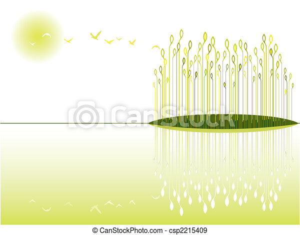 wetland, prospekt - csp2215409