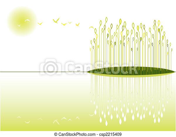 wetland, vue - csp2215409