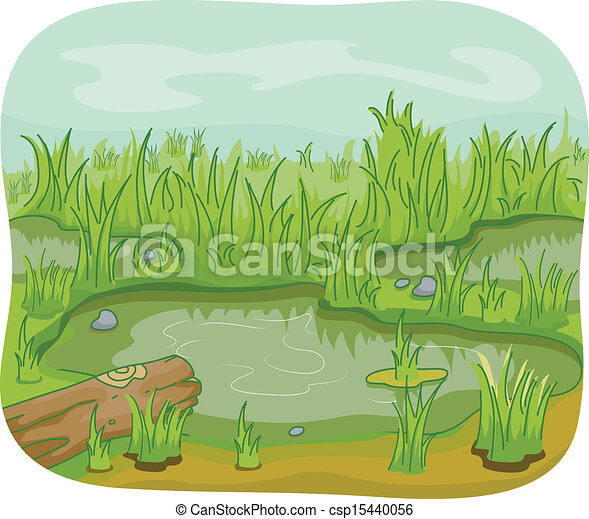 illustration of wetlands with a log and leaves lying Parrot Clip Art blue and gold macaw clipart