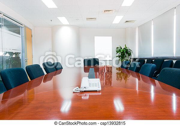 wewnętrzny, sala konferencyjna, nowoczesny, biuro - csp13932815