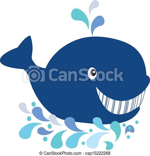 Whale cartoon - csp15222268