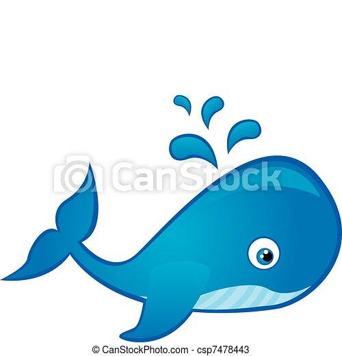 whale cartoon vector
