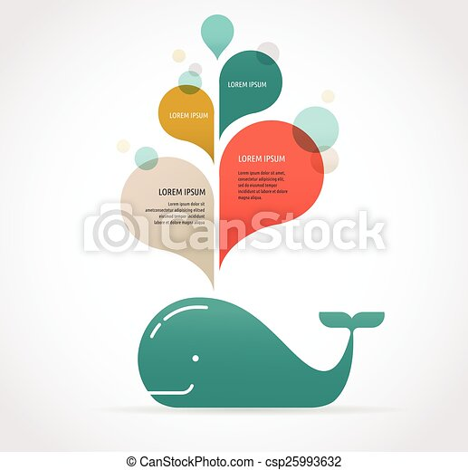 whale icon with speech bubbles - csp25993632