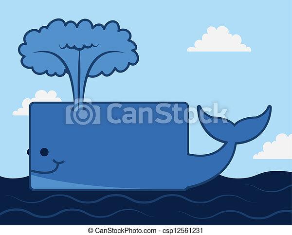 Whale Ocean  - csp12561231