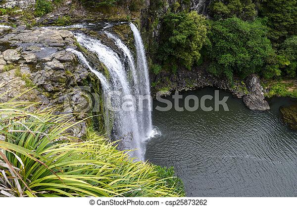 whangarei, cachoeira, vista, panorâmico - csp25873262