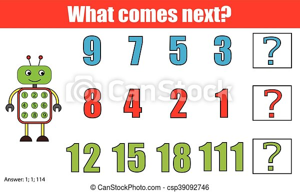 What comes next educational children game. kids activity... eps ...