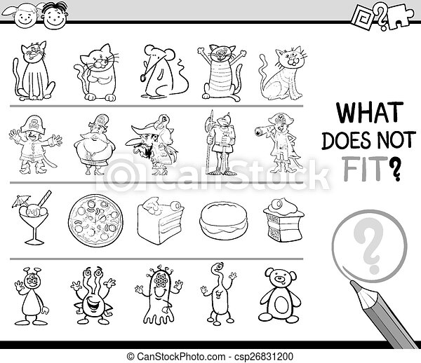 what does not fit game cartoon - csp26831200