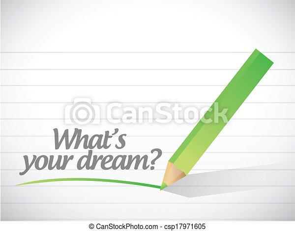¿Cuál es la ilustración de tu sueño - csp17971605