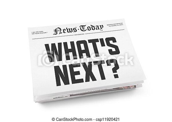 What's next headline - csp11920421