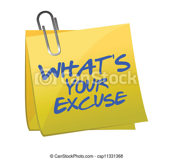 Whats your excuse post it  - csp11331368