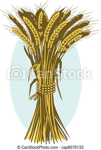 Wheat Bushel - csp8076133