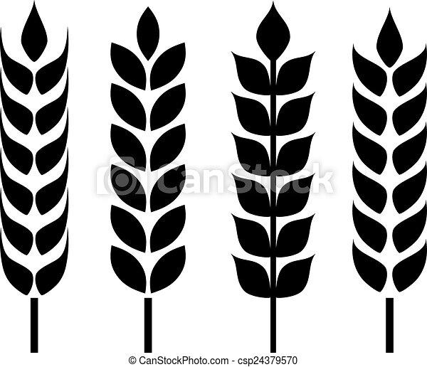 Wheat ear icon - csp24379570