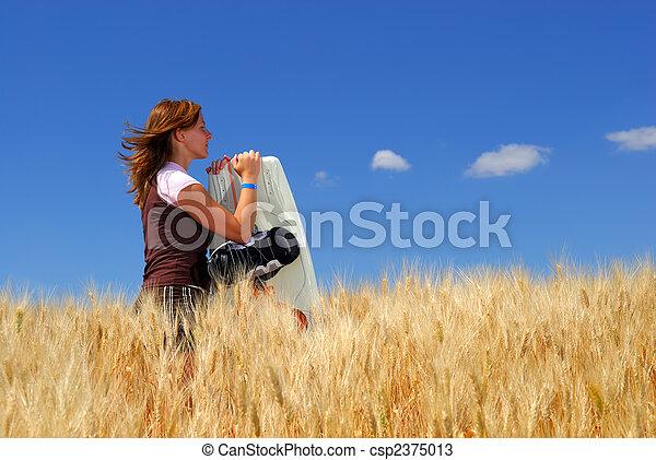 Wheat Field Dreams - csp2375013