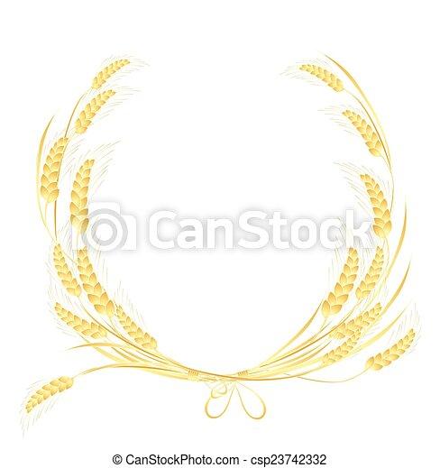 Wheat frame - csp23742332