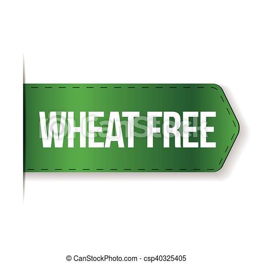 Wheat Free sign ribbon - csp40325405