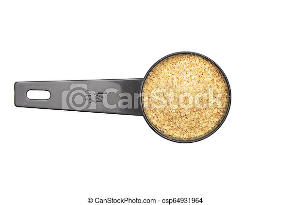 Wheat germs in measuring spoon on white background - csp64931964