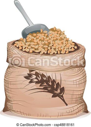 Wheat Grain Sack Illustration - csp48818161