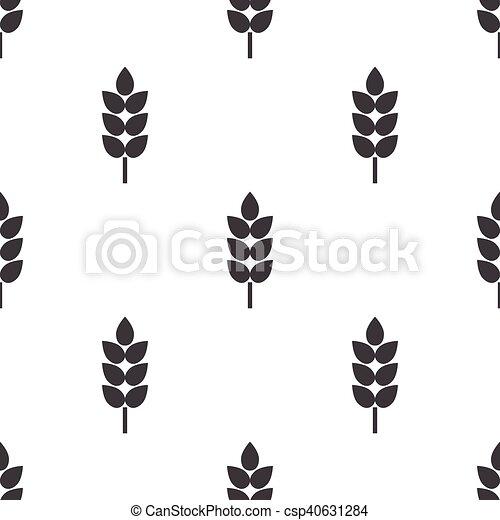 wheat icon on white background - csp40631284
