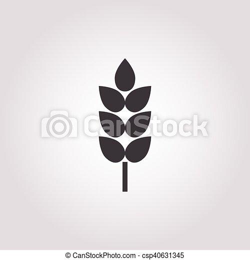wheat icon on white background - csp40631345