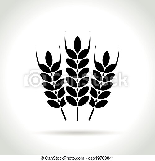 wheat icon on white background - csp49703841
