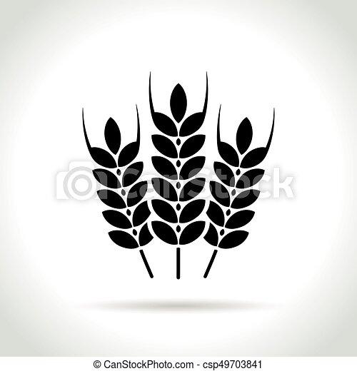 wheat icon on white background - csp49703841