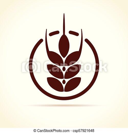wheat icon on white background - csp57921648