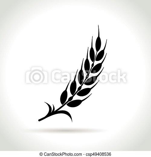 wheat icon on white background - csp49408536