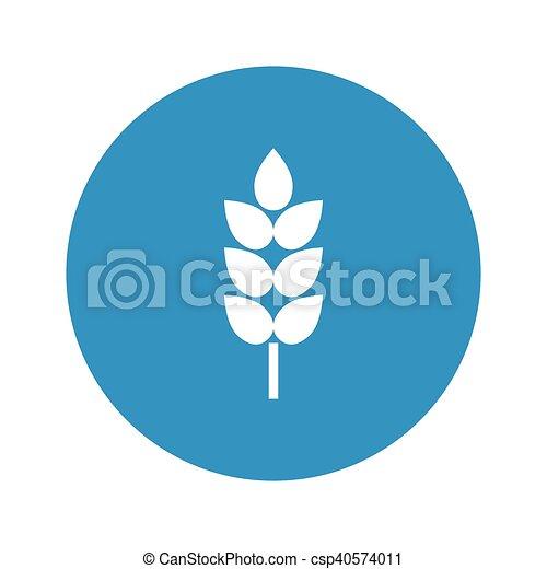 wheat icon on white background - csp40574011
