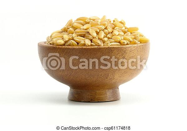Wheat on white background - csp61174818