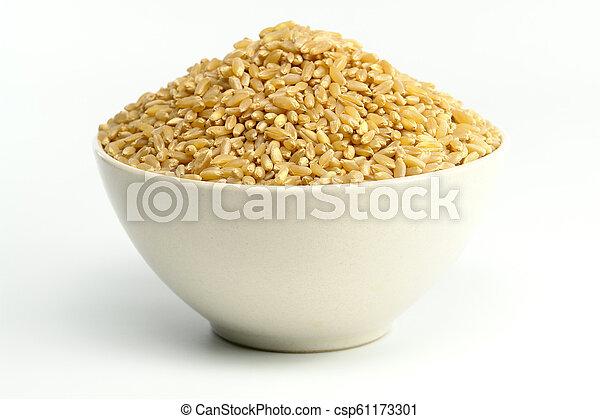 Wheat on white background - csp61173301