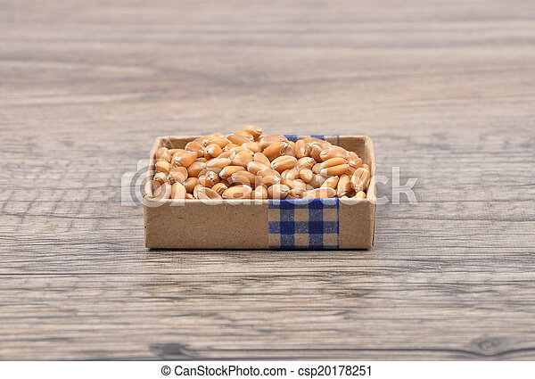 Wheat on wood - csp20178251