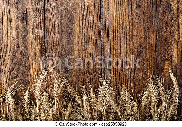 wheat on wood - csp25850923