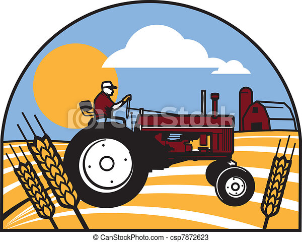 Wheat Tractor - csp7872623