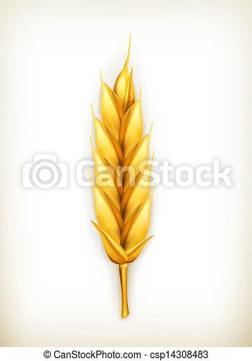 Wheat, vector icon - csp14308483