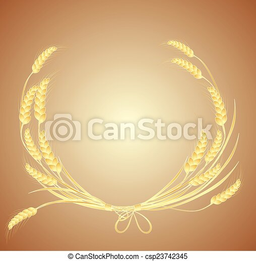 Wheat wreath - csp23742345