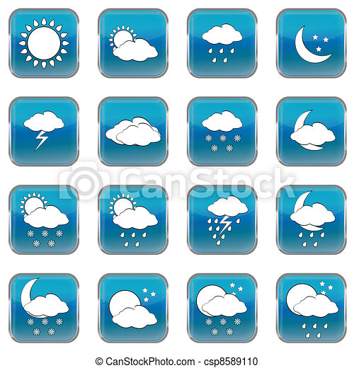 Wheather forecast web buttons - csp8589110