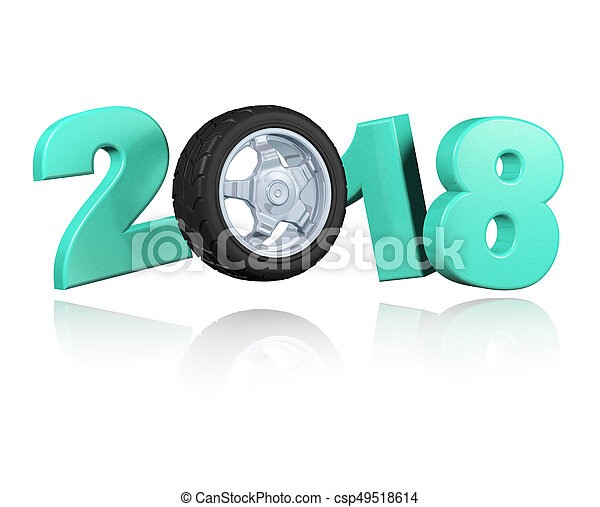 Wheel 2018 Design with a white Background - csp49518614