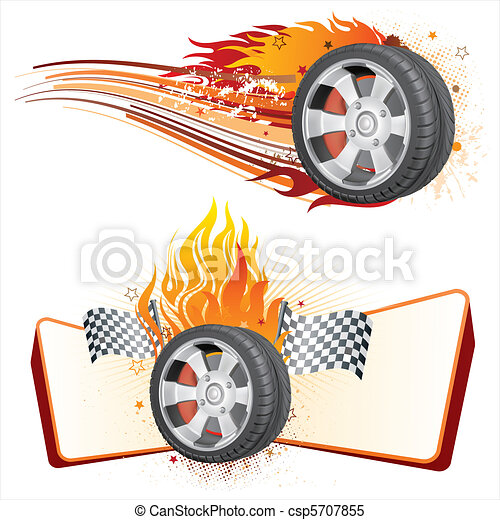 wheel and flame - csp5707855