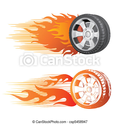 wheel and flame - csp5458947