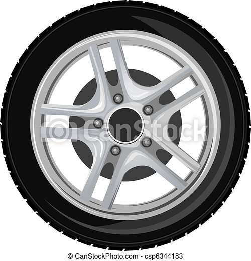 Wheel and tire - csp6344183