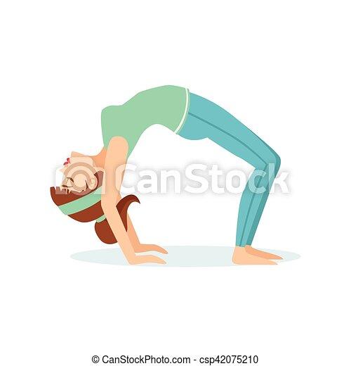 wheel chakrasana yoga pose demonstratedthe girl