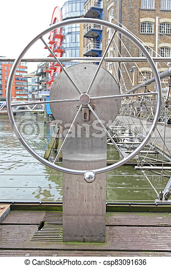 Wheel Draw Bridge - csp83091636