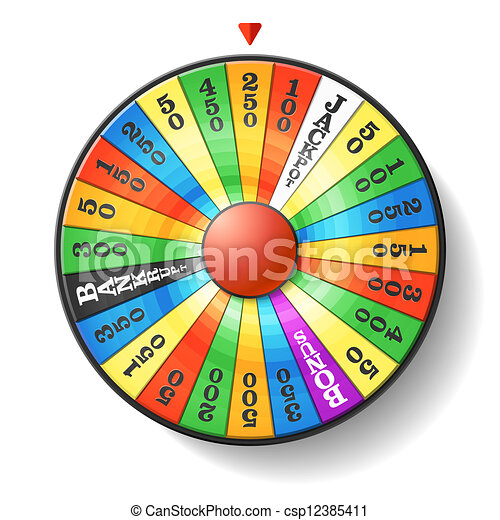 Wheel of fortune vector illustration vector clip art search wheel of fortune vector ccuart Images
