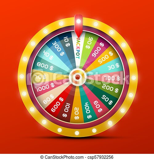 Wheel of Fortune with Jackpot Win - csp57932256