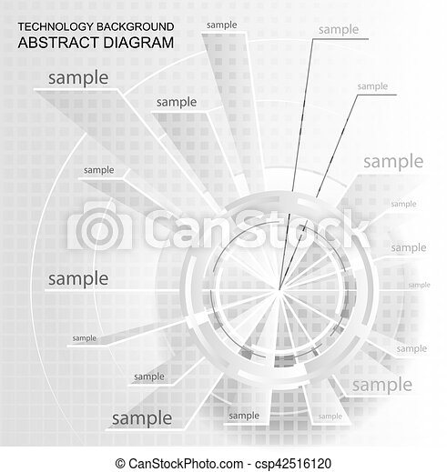 Abstract technology chart wheel pie diagram blank plan design with wheel pie diagram csp42516120 ccuart Choice Image