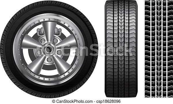 Wheel - Tire and Alloy Rim - csp18628096